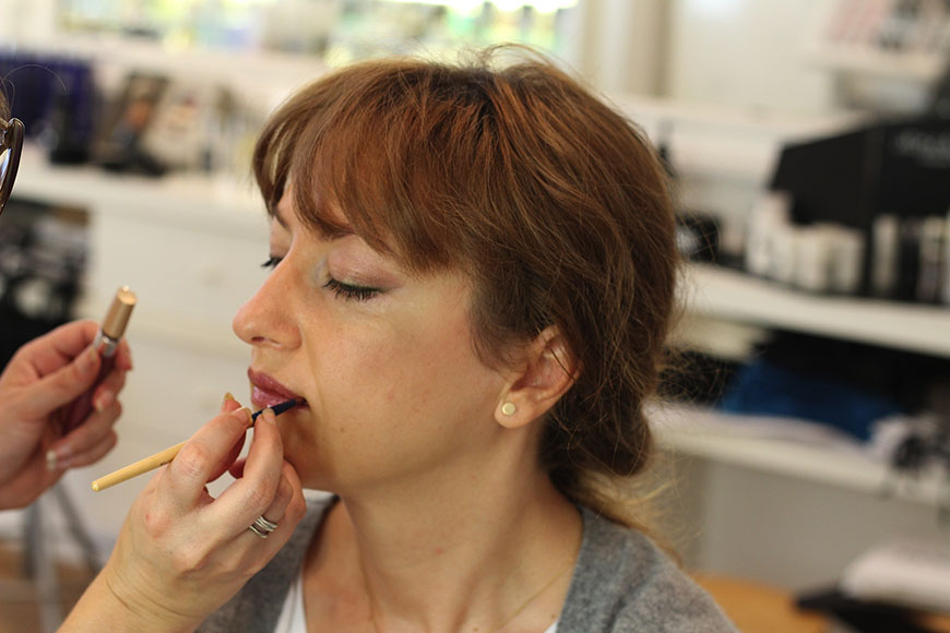 Make-up of the lips
