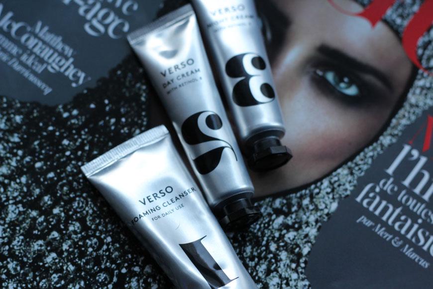 1,2 et 3 de Verso Skincare