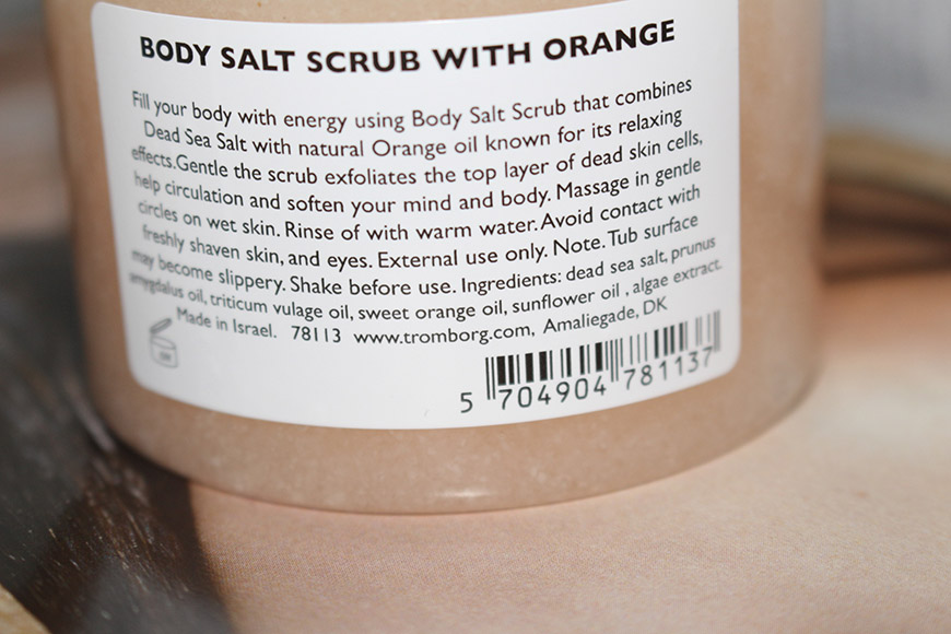 Ingredients - Body Salt Scrub Orange by Tromborg