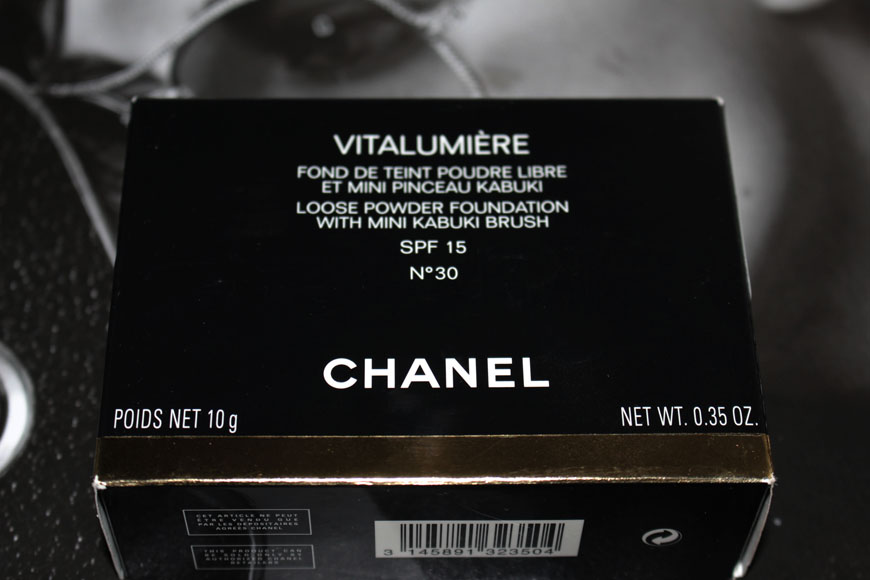 Chanel Vitalumière Powder Foundation Box