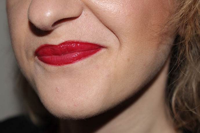 Lips Colored with Rouge Allure Gloss Pirate by Chanel