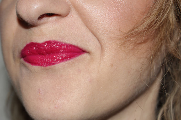 Lips Colored with Rouge Pur Couture Mat 208 Fétiche by Yves-Saint-Laurent