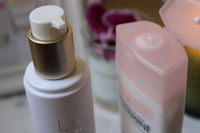 Beauty Cleansing Milk by Guerlain and Hydrating Cleansing Milk by Diadermine