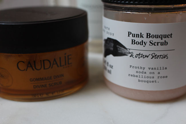 Divine Scrub by Caudalie and Punk Bouquet Body Scrub by &other Stories