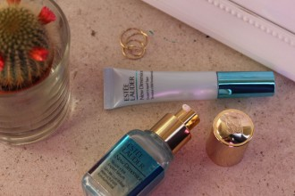 Estée Lauder New Dimension Shape + Fill Expert Serum and Expert Liquid Tape