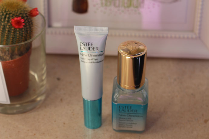 New Dimension Shape + Fill Expert Serum and Expert Liquid Tape by Estée Lauder