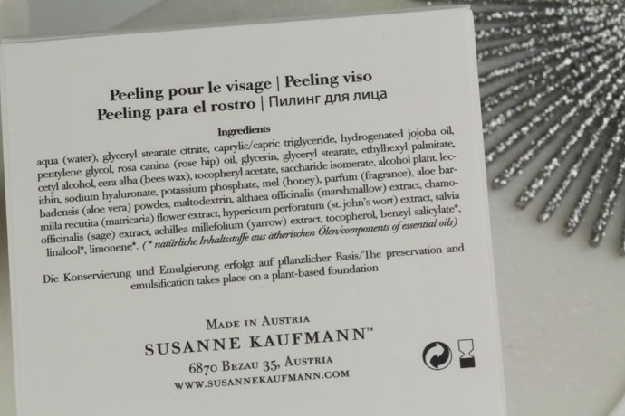 Susanne Kaufmann Facial Peel Ingredients