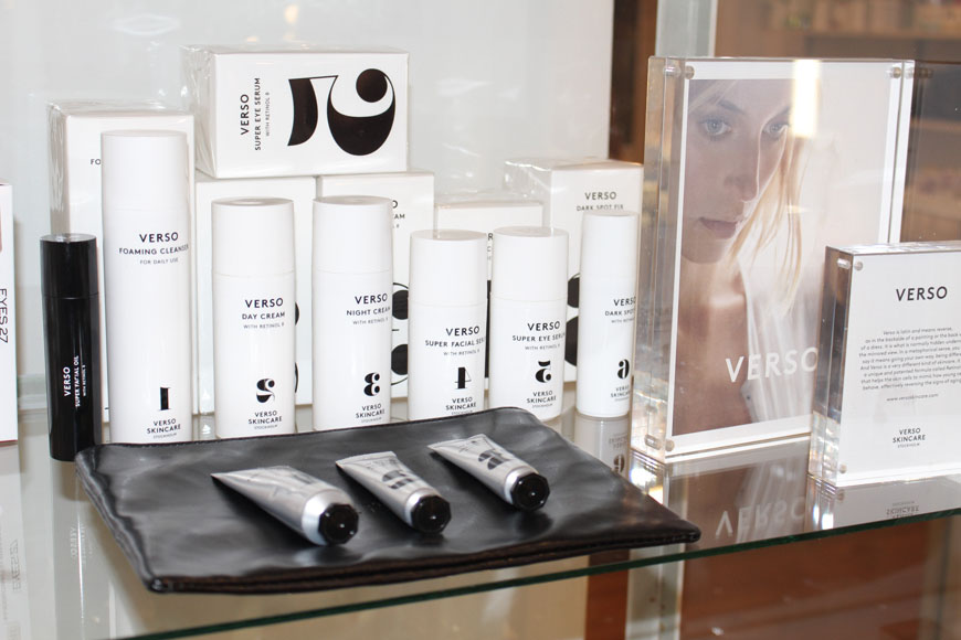 Verso Skin Care Product Range