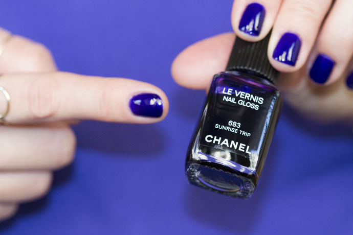 Chanel Le Vernis Nail Gloss in 683 Sunrise Trip on the Nails