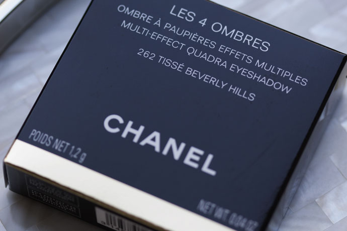 Box of Chanel Les 4 Ombres Eyeshadow Palette in 262 Tissé Beverly Hills