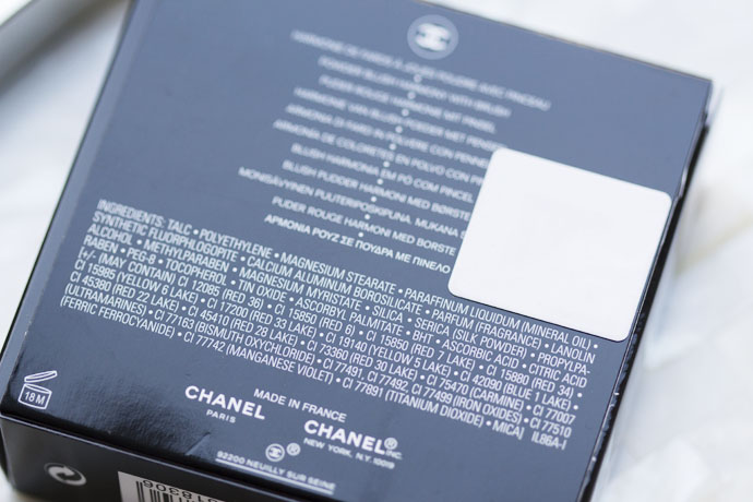 Ingredients of Sunkiss Ribbon Face Palette by Chanel