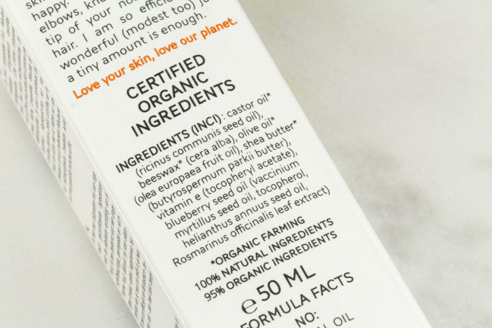 Ingredients of Information about All You Need Is Me by True Organic Of Sweden