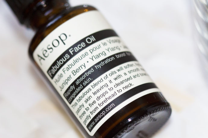 Aēsop Fabulous Face Oil - Dark Glass Bottle