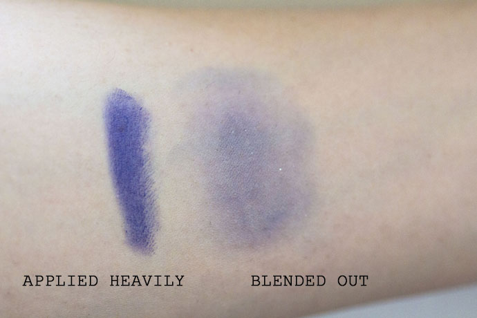 Sisley Phyto Eye Twists Long Lasting Eyeshadow 10 Amethyst Applied Heavily and Blended Out