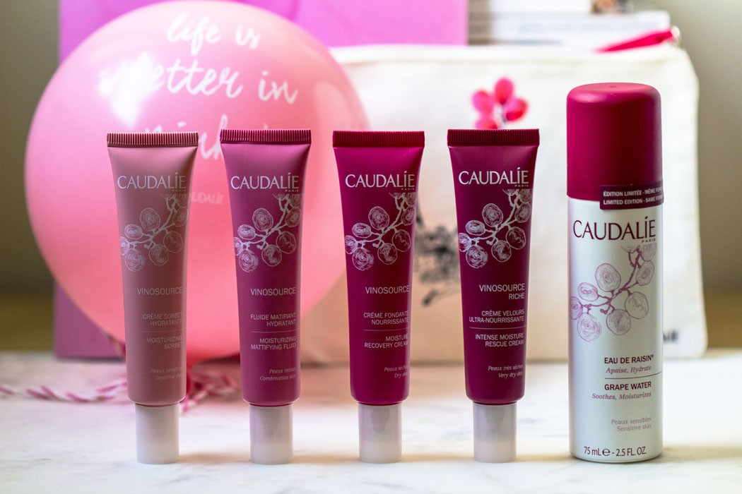 Caudalie Vinosource Event Life is better in pink !