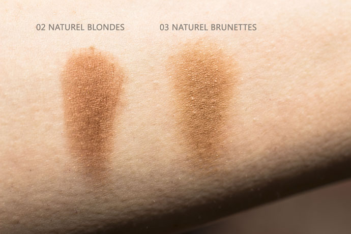 Guerlain The Bronzing Powder - Face Powder - 03 Natural Brunettes and 02 Natural Blondes Differences