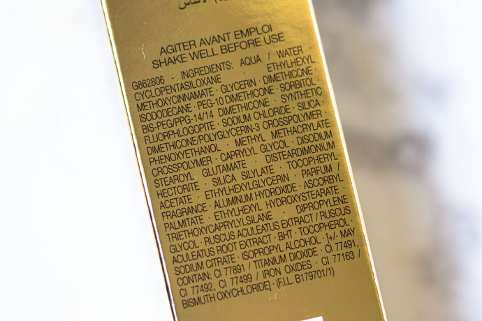 YSL Beauté Touche Éclat Le Teint in B50 Honey Ingredients
