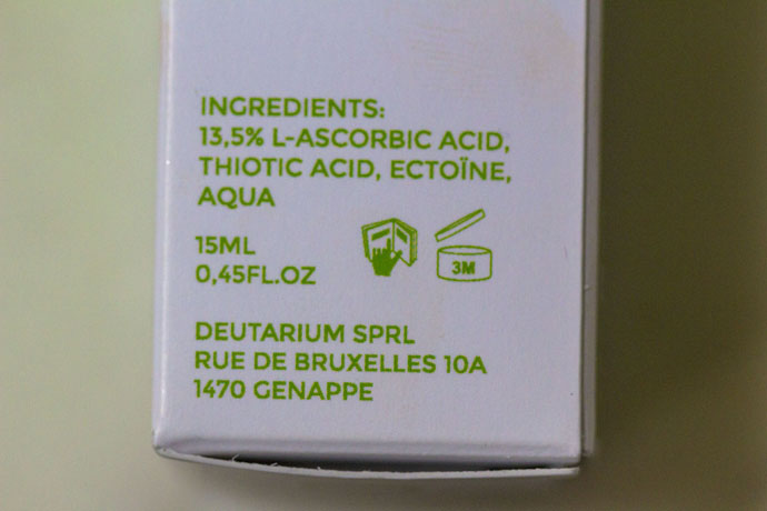 Deutarium Skintonic Vitamin C Ingredients