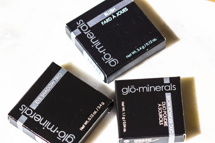 Glō Minerals | Blush, Eye Shadow Trio, Brow Powder Duo (packages)