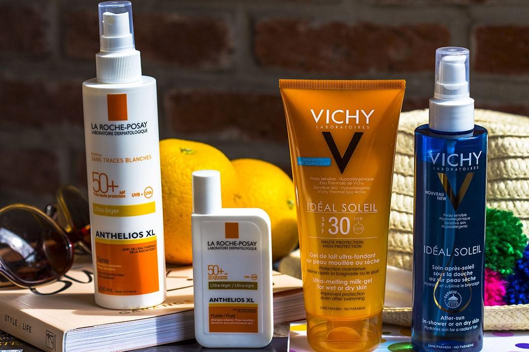 Vichy Idéal Soleil & La Roche-Posay Anthelios 50+