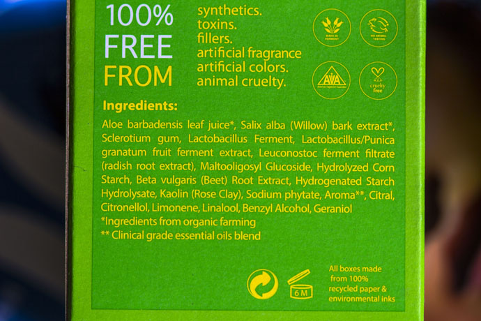 Tata Harper | Resurfacing Mask (ingredients list)