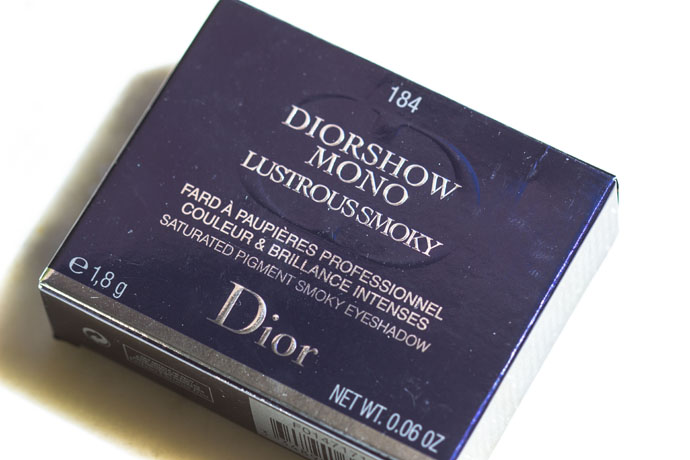 Dior | Diorshow Mono Lustrous Smoky in 184 Temptation (package detail)