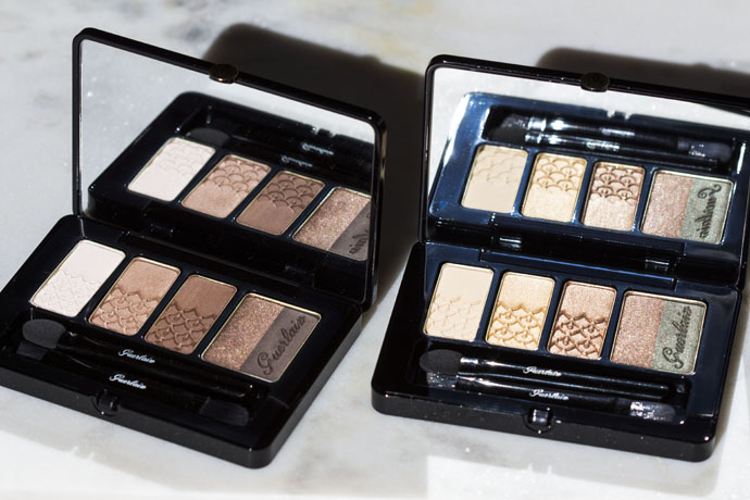 Guerlain | Palette 5 Couleurs Fall 2016 in 02 Tonka Impériale (left) & 03 Coque D'Or (right)