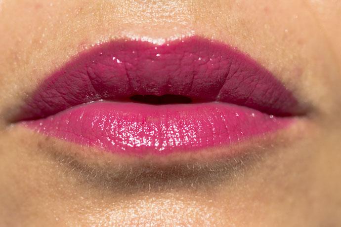 Lancôme I Sonia Rykiel Parisian Lips Le Crayon in A02 Parisian Spirit (swatch - the matte formula)