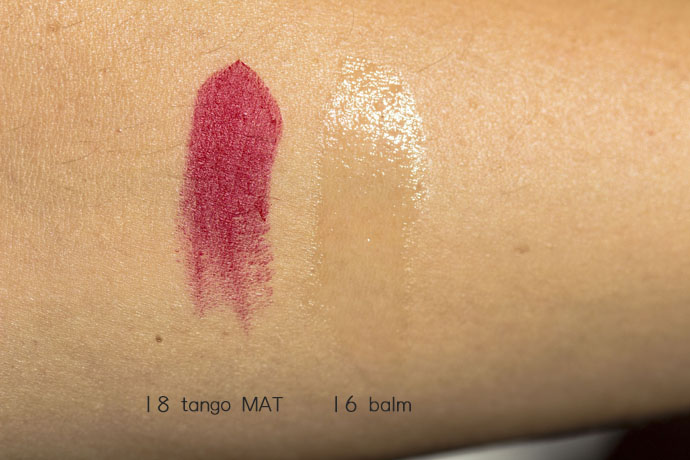 Sisley | Phyto Lip Twist Mat in 18 Tango & Phyto Lip Twist in 16 Balm (swatches)