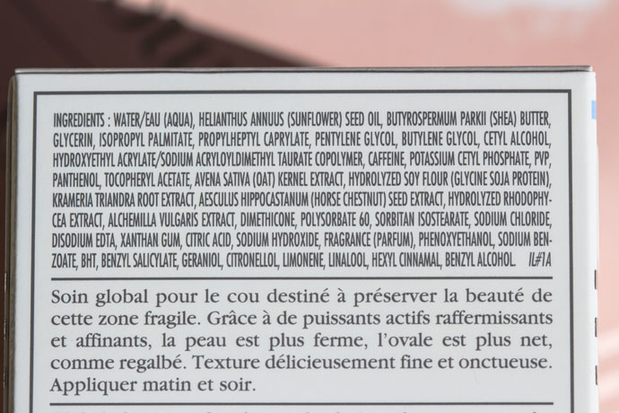 Sisley | Neck Cream The Enriched Formula (ingredients list)