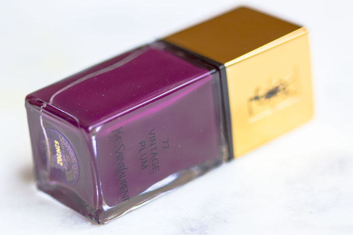 YSL | Scandal Collection La Laque Couture in N° 77 Vintage Plum