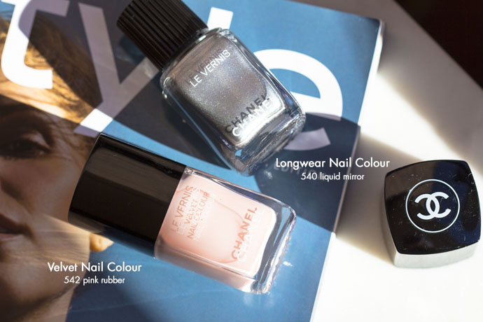 Chanel | Le Vernis Velvet in 542 Pink Rubber & Le Vernis Longwear in 540 Liquid Mirror