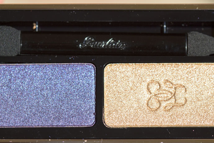 Guerlain | Écrin Shalimar Precious Eyeshadows Gold and Sapphire (direct sunlight)