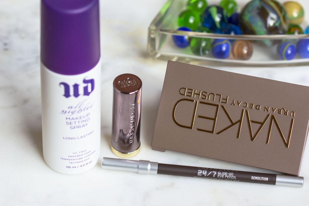 Urban Decay | Naked Flushed, Vice Lipstick, Glide-On Eye Pencil & All Nighter Makeup Setting Spray