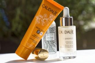 Caudalie | Vinoperfect sérum éclat anti-tâches et Soleil Divin soin solaire visage anti-âge
