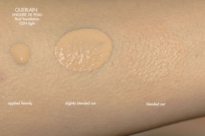 Guerlain | Lingerie De Peau Natural Perfection Skin-Fusion Texture SPF 20 in 02N light (swatches)