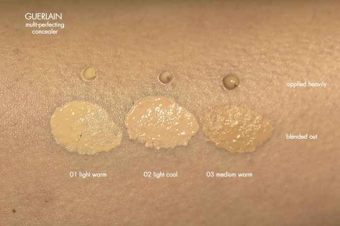 Guerlain | Multi-Perfecting Concealer (swatches)