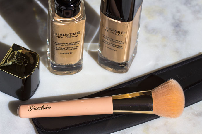 Guerlain | Lingerie De Peau Natural Perfection Skin-Fusion Texture SPF 20 & The Foundation Brush
