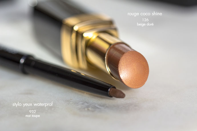 Chanel | Stylo Yeux Waterproof 932 Mat Taupe & Rouge Coco Shine 126 Beige Doré