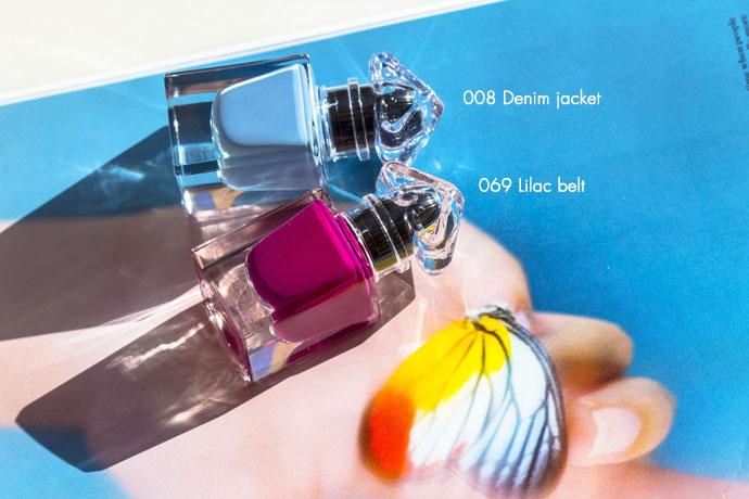 Guerlain | La Petite Robe Noire Deliciously Shiny Nail Colour in 069 Lilac Belt & 008 Denim Jacket