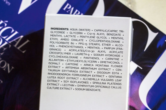 Maria Galland | Cryo-Effect Anti-Cellulite Fluid 419 (ingredients list)