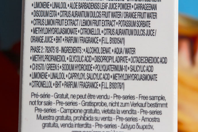 Lancôme | Visionnaire Crescendo Progressive Night Peel (Phase 2 ingredients list)