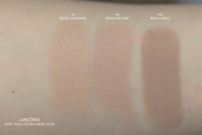 Lancôme | Teint Idole Ultra Wear Stick (swatches)