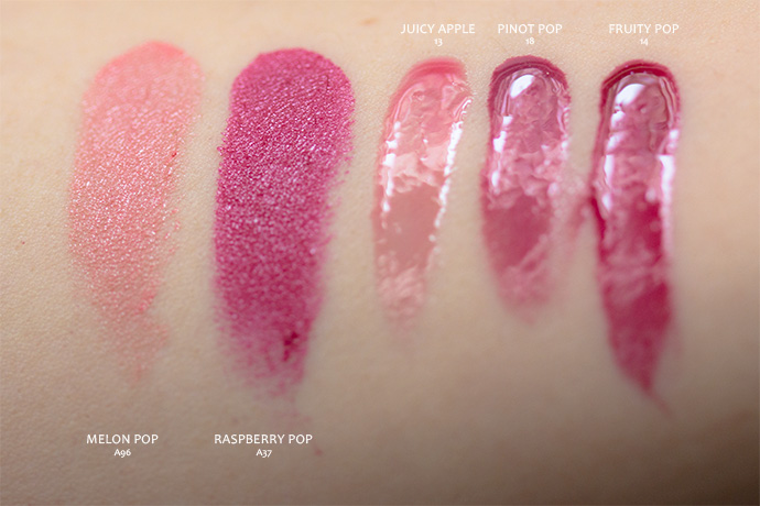 Clinique x Marimekko | Pop™ Lip Colour + Primer & Pop Splash™ Lip Gloss + Hydration (swatches)