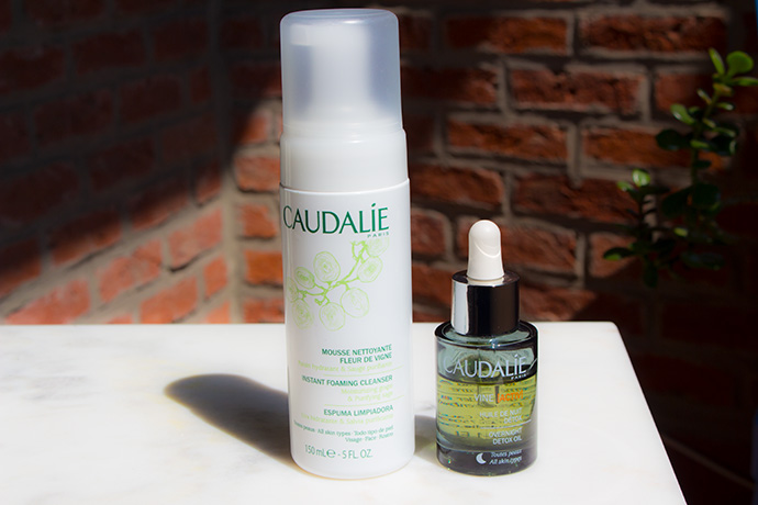 Caudalie | Instant Foaming Cleanser & VineActiv Overnight Detox Oil